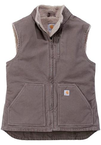 Carhartt Arbeitsweste »Sandstone Mock Neck Vest«, mit weichem Sherpa-Futter kaufen