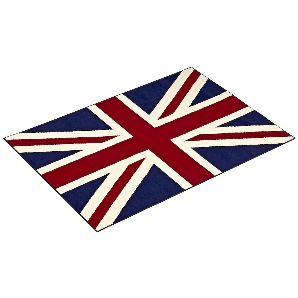 Teppich, »Union Jack«, HANSE Home, rechteckig, Höhe 9 mm, maschinell gewebt