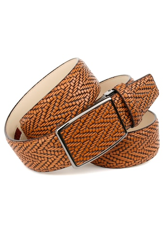 Anthoni Crown Ledergürtel, in Flecht-Optik, cognac kaufen