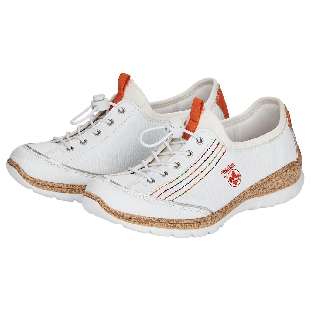 Rieker Slip-On Sneaker, mit bunten Ziernähten