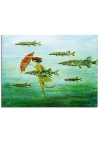 Artland Glasbild »Es zieht wie Hechtsuppe«, Wassertiere, (1 St.) kaufen