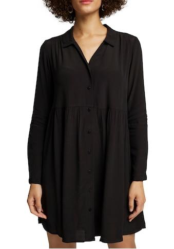 Esprit Blusenkleid, mit gerüschtem Rock und Knopfleiste kaufen