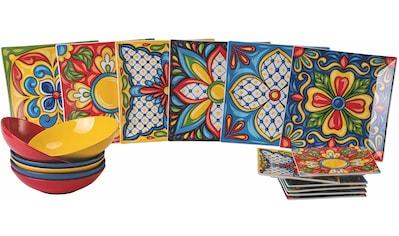Villa d'Este Teller-Set »Riviera Maya«, (18 tlg.), Tafelservice 18-teilig für 6 Personen kaufen