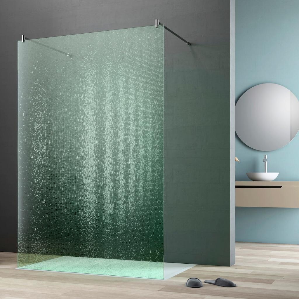 maw by GEO Walk-in-Dusche »flex A-W002CGR«, BxH: 140 x 200 cm, Crash-Glas Edelgrün