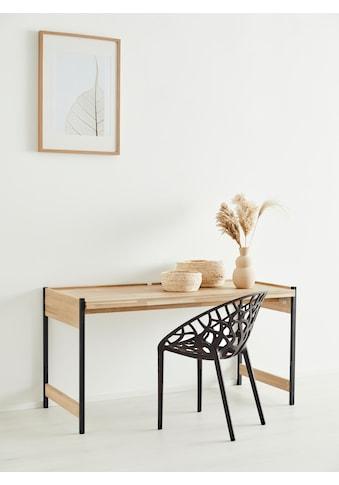 OTTO products Schreibtisch »Mareen«, aus Eiche massiv, klappbar, vegan, Breite 143 cm,... kaufen