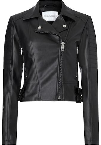 Calvin Klein Jeans Bikerjacke »FAUX LEATHER BIKER JACKET« kaufen