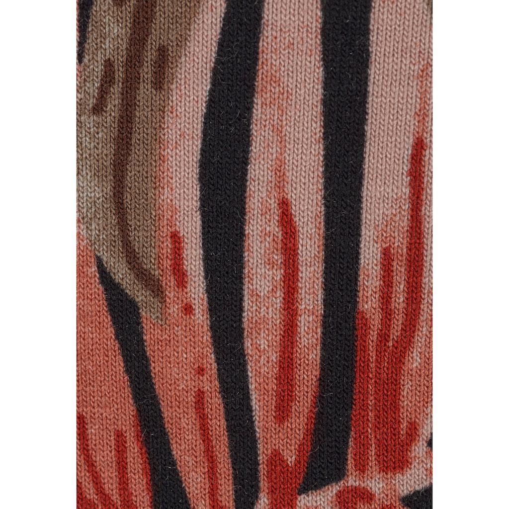 LASCANA Maxikleid, mit Palmen-Alloverprint