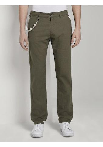 TOM TAILOR Chinohose »Travis Regular Hose aus Leinengemisch mit Kordelband« kaufen