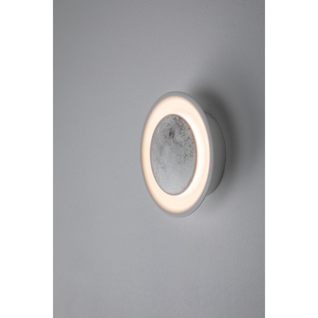 Paulmann LED Wandleuchte »Neordic Wandleuchte Tiril 6,3W Betonoptik Weiß matt/Grau/Kupfer«, 1 St., Warmweiß