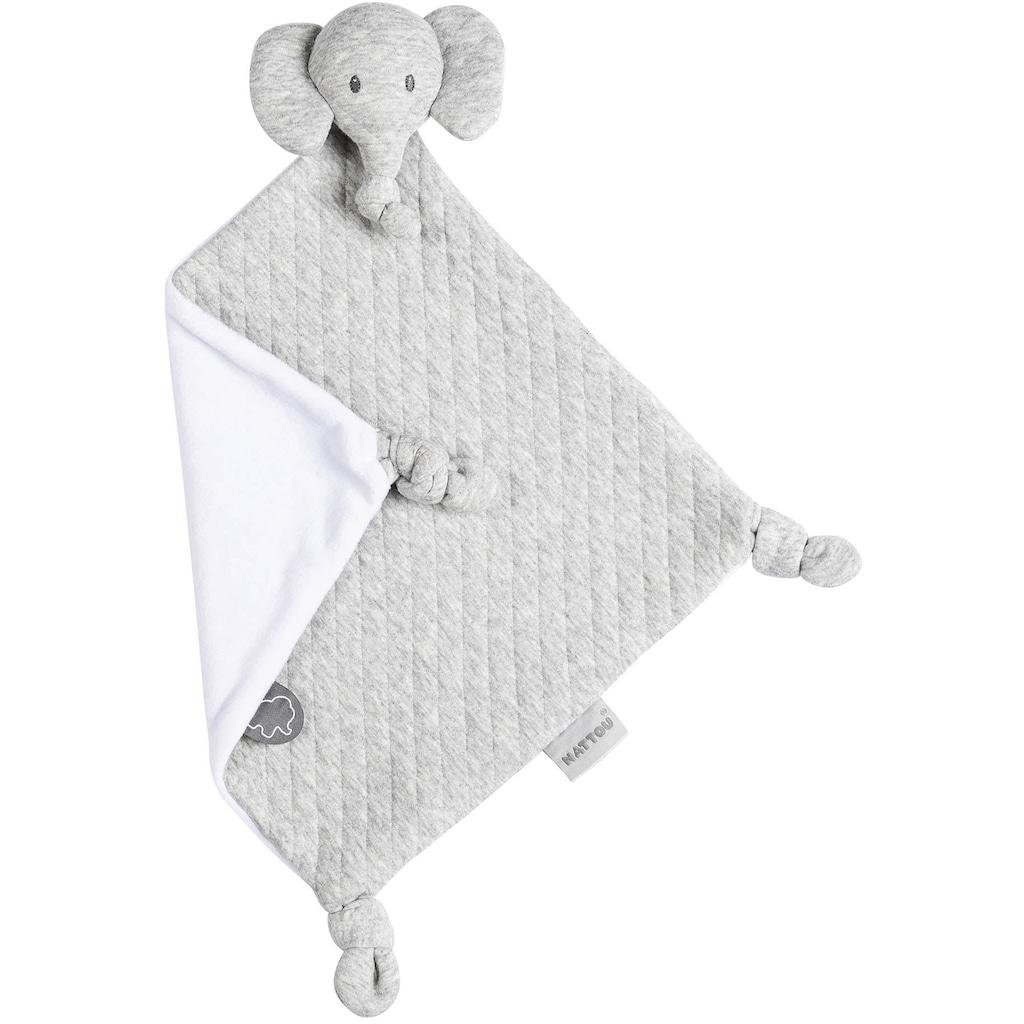Nattou Schnuffeltuch »Elefant, grau«