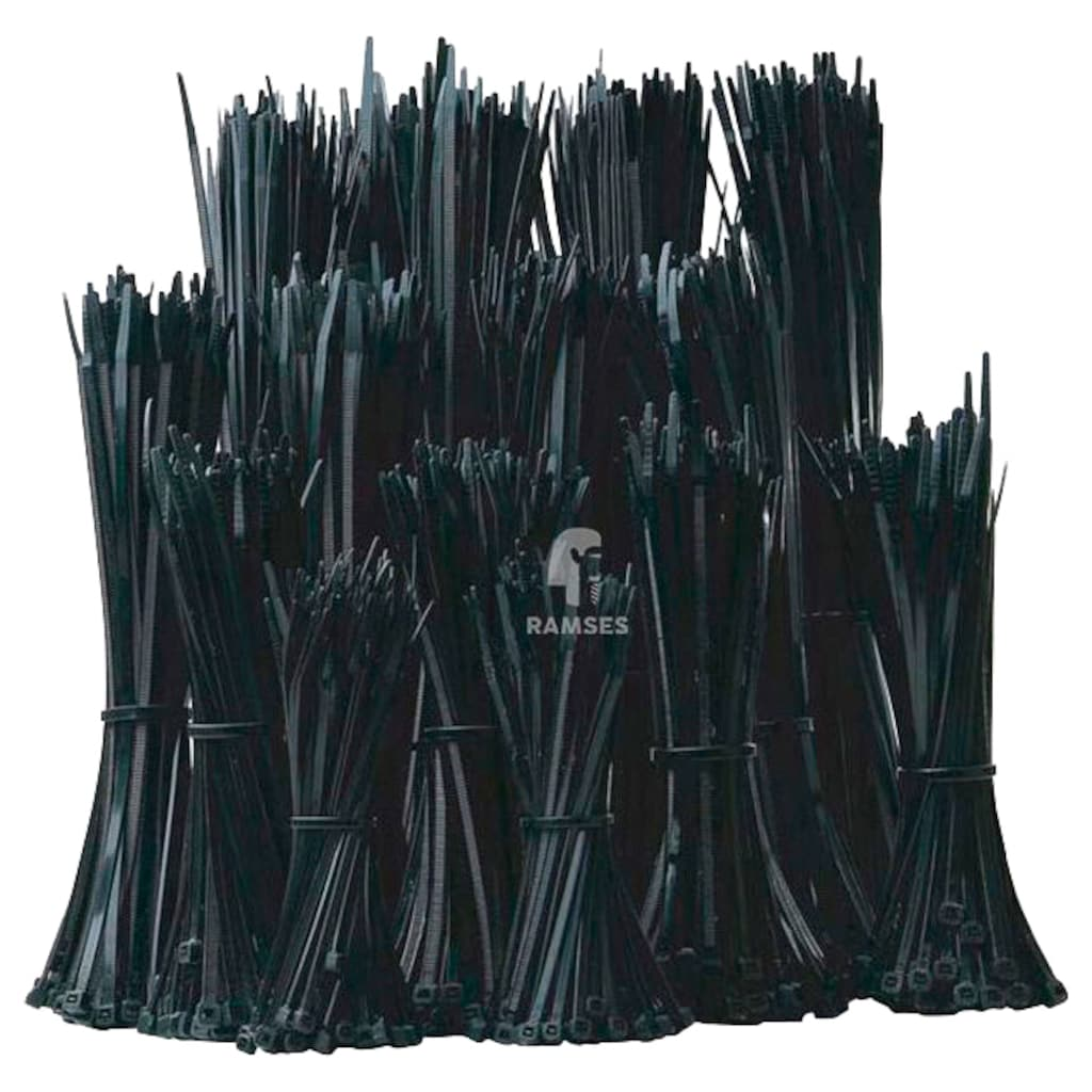 RAMSES Kabelbinder , Paket schwarz 1.800 Stück
