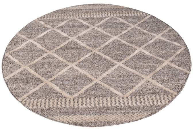 Carpet City Teppich Art 2645, rund, 7 mm Höhe braun Esszimmerteppiche Teppiche nach Räumen