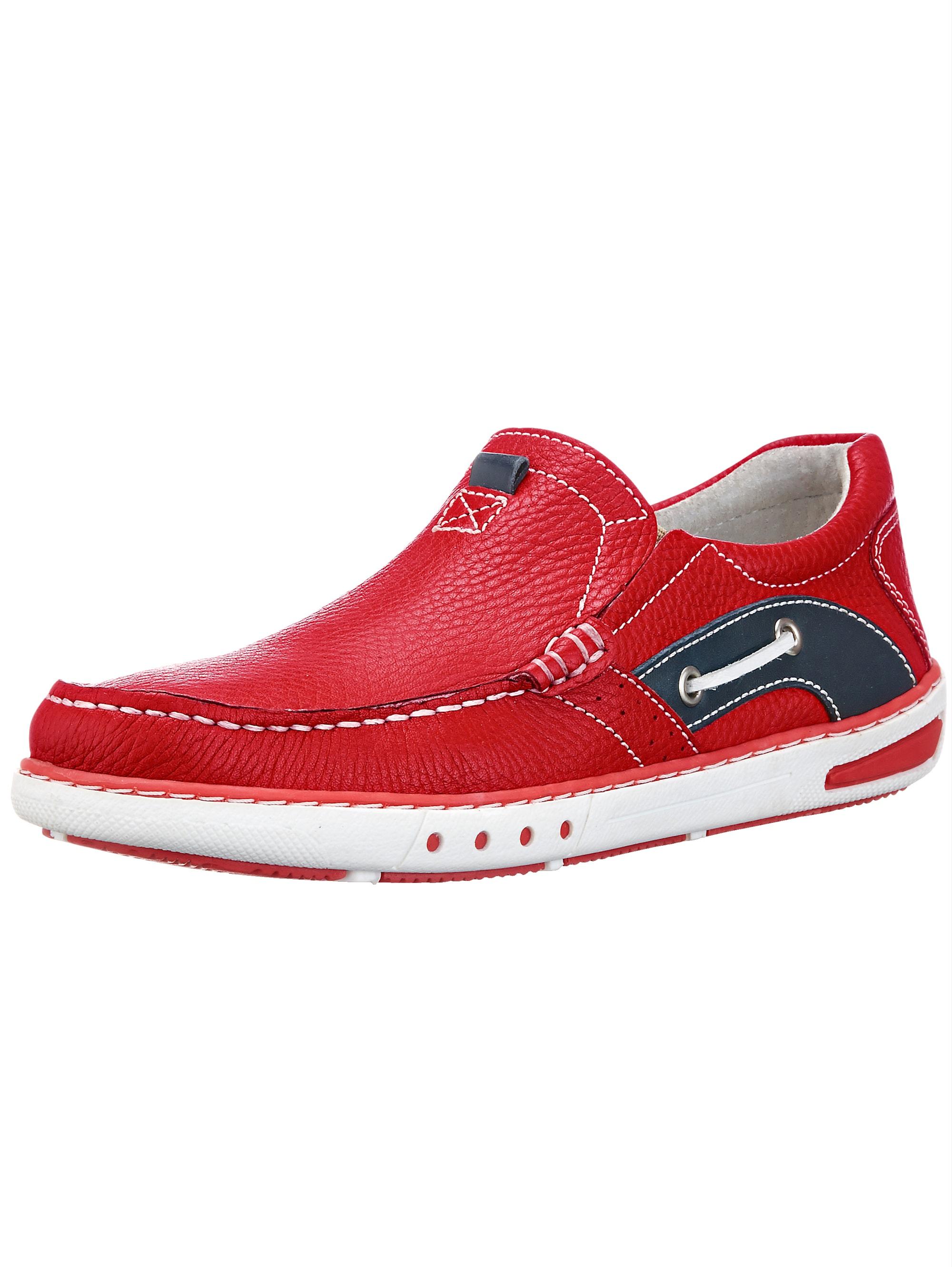 Roger Kent Slipper, im Bootsschuh Stil rot Herren Slipper Sneaker