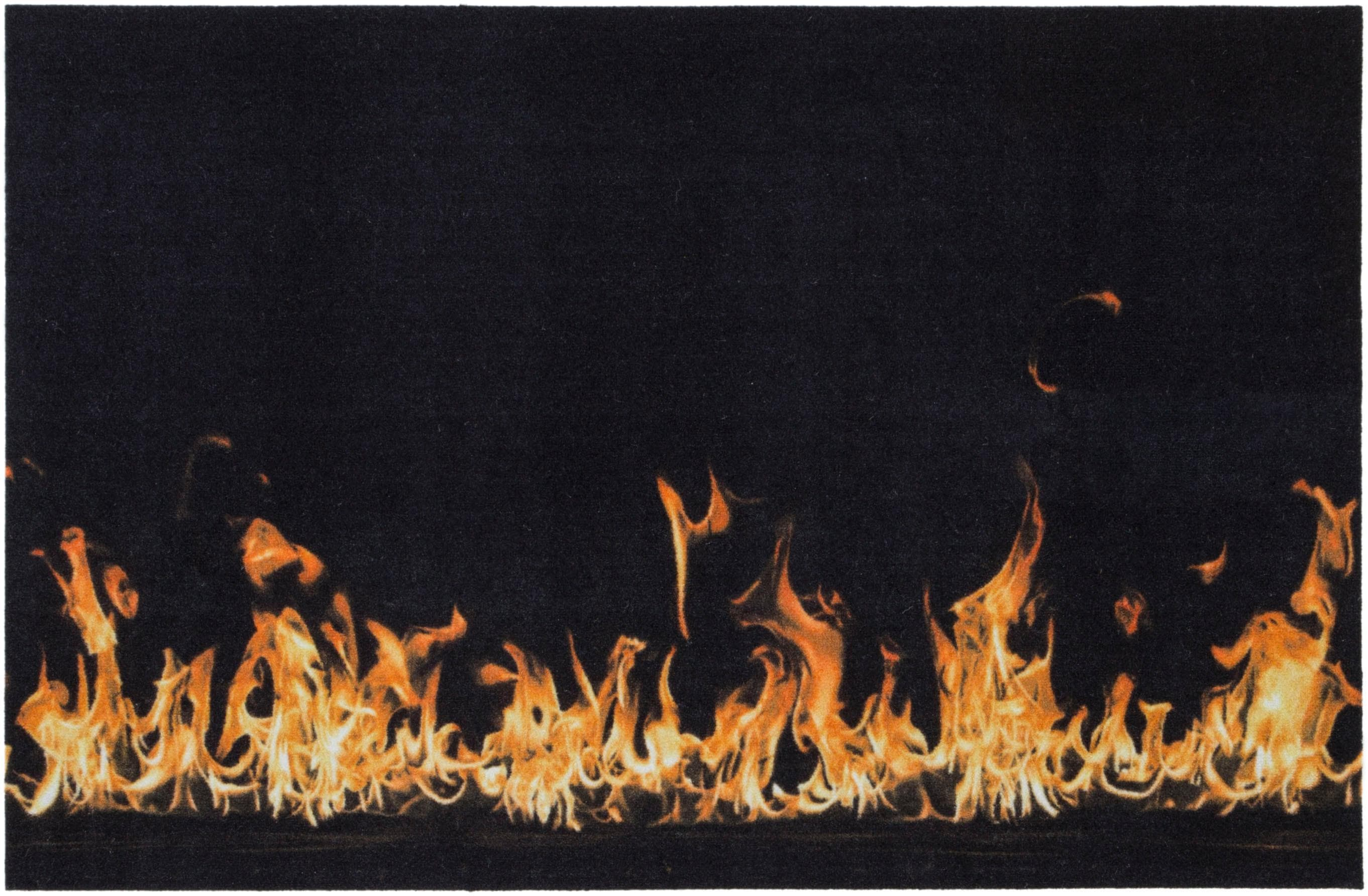 Fußmatte Flammen Andiamo rechteckig Höhe 5 mm maschinell gewebt