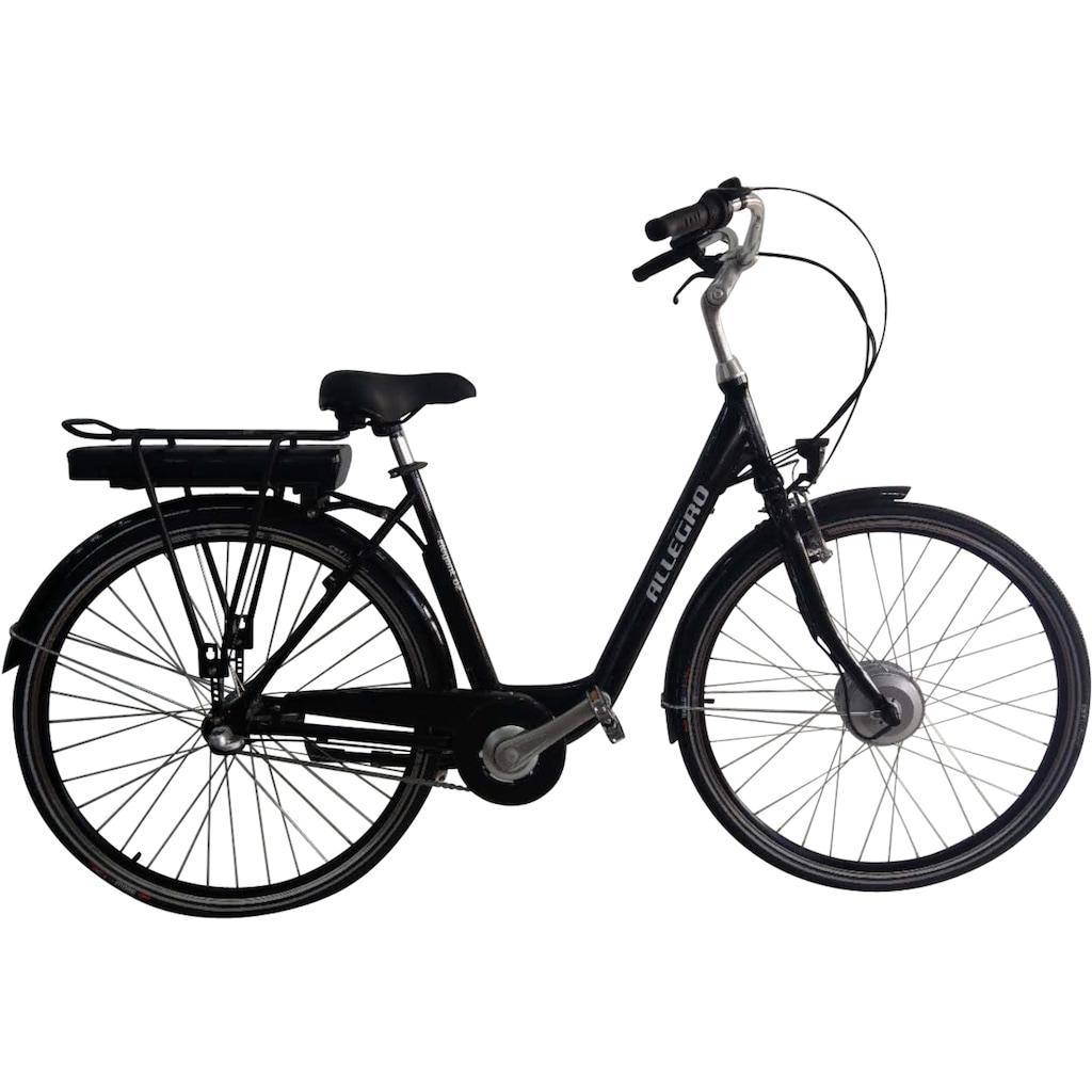 ALLEGRO E-Bike »Elegant 02 Black«, 3 Gang, Shimano, Nexus, Frontmotor 250 W