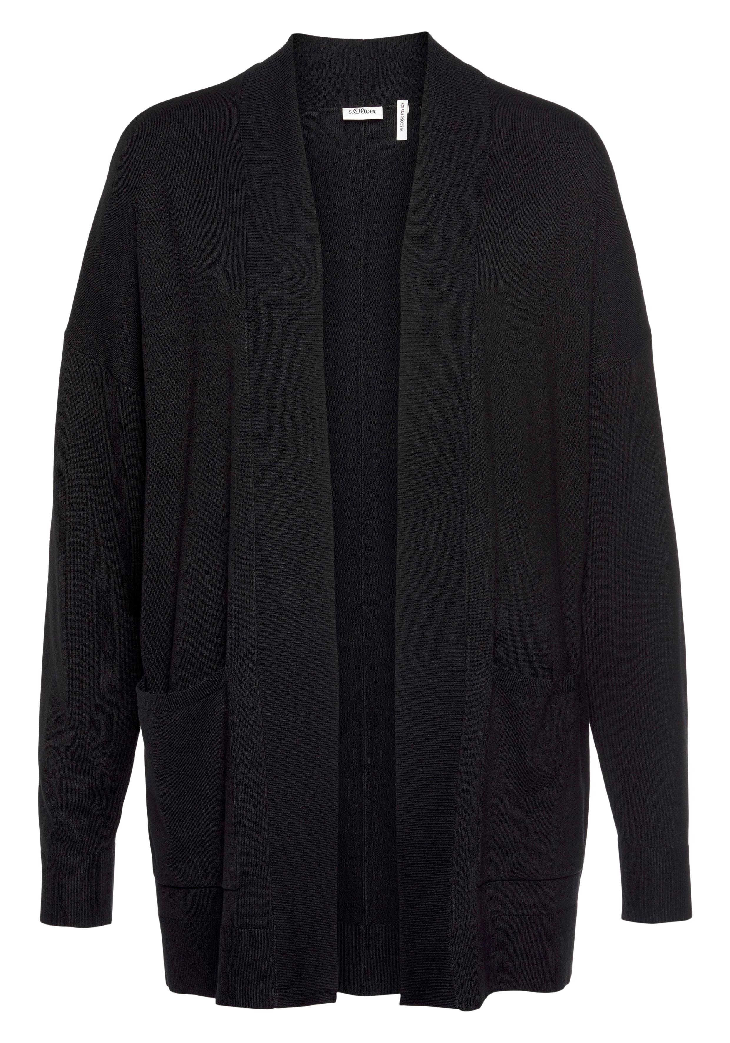 s.oliver black label -  Longstrickjacke, mit aufgesetzten Taschen