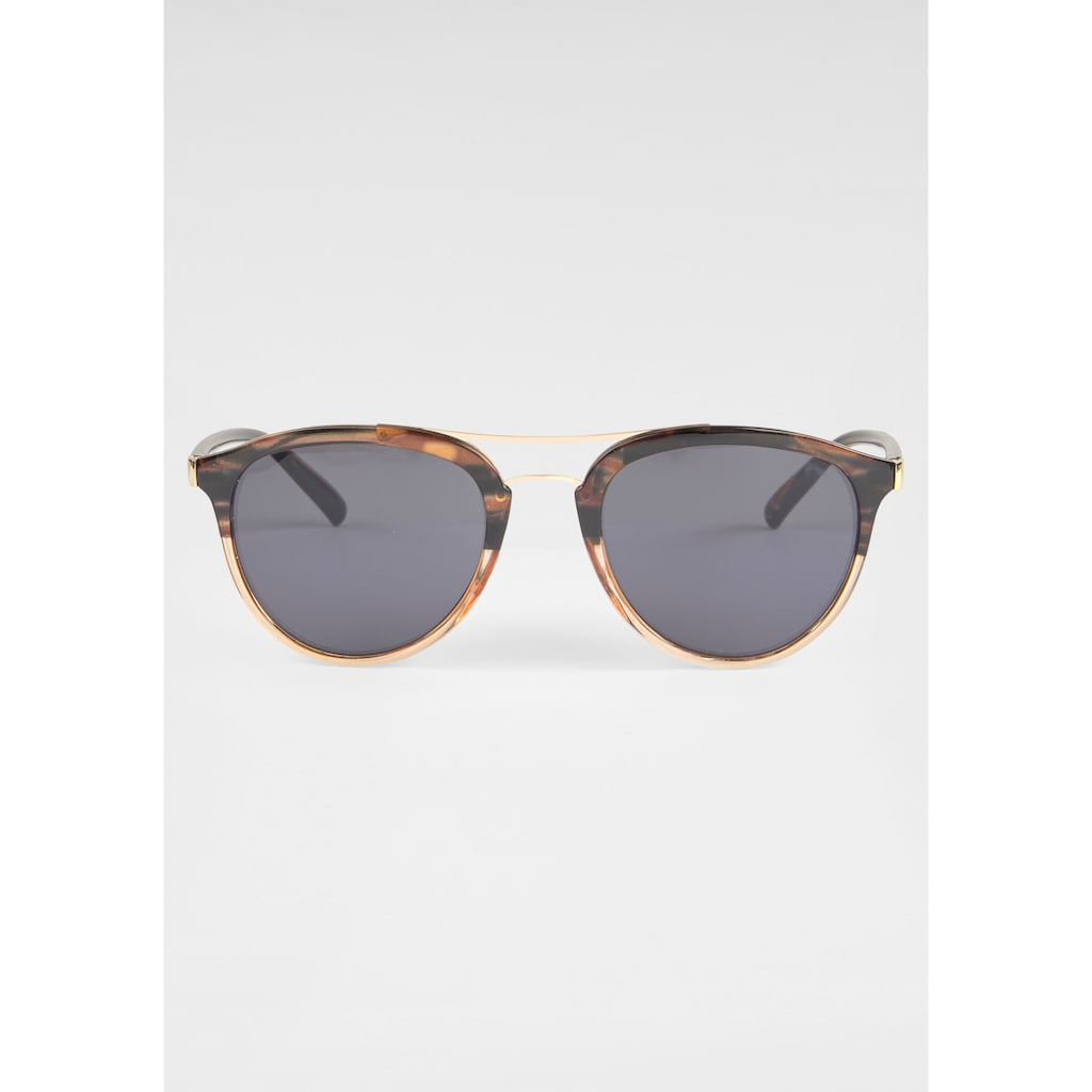 BASEFIELD Sonnenbrille, feiner Doppelsteg in Goldoptik