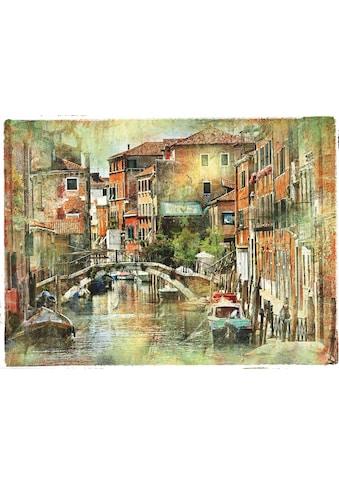 Home affaire Leinwandbild »Venedig, künstlerische Darstellung im Malstil« kaufen