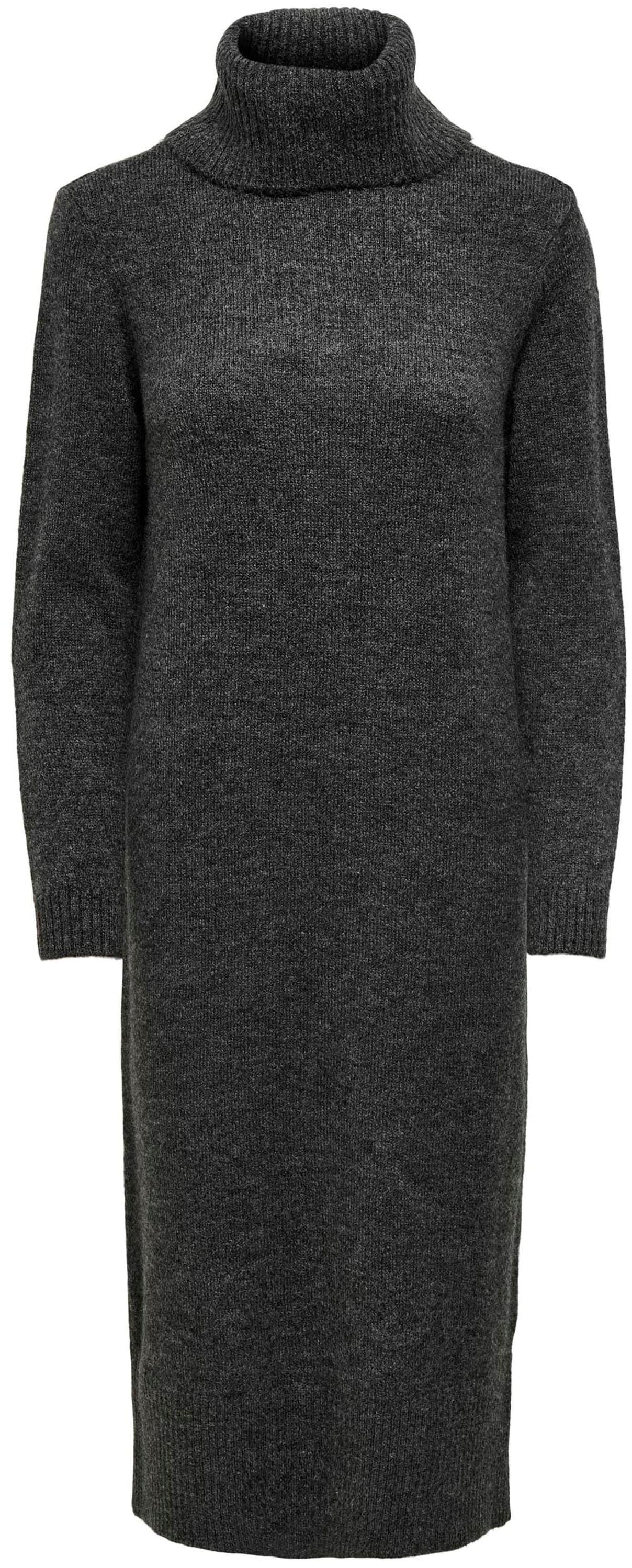 only -  Strickkleid ONLBRANDIE L/S ROLL NECK DRESS