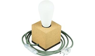 SEGULA Tischleuchte »Tischlampe Korkwürfel, 2m Textilkabel grün«, E27, Mit Schalter kaufen