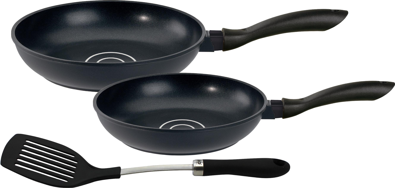 Elo Pfannen-Set Circolo (Set, 3-tlg., 2 Pfannen, 1 Pfannenwender) schwarz Pfannensets Pfannen Haushaltswaren Pfanne