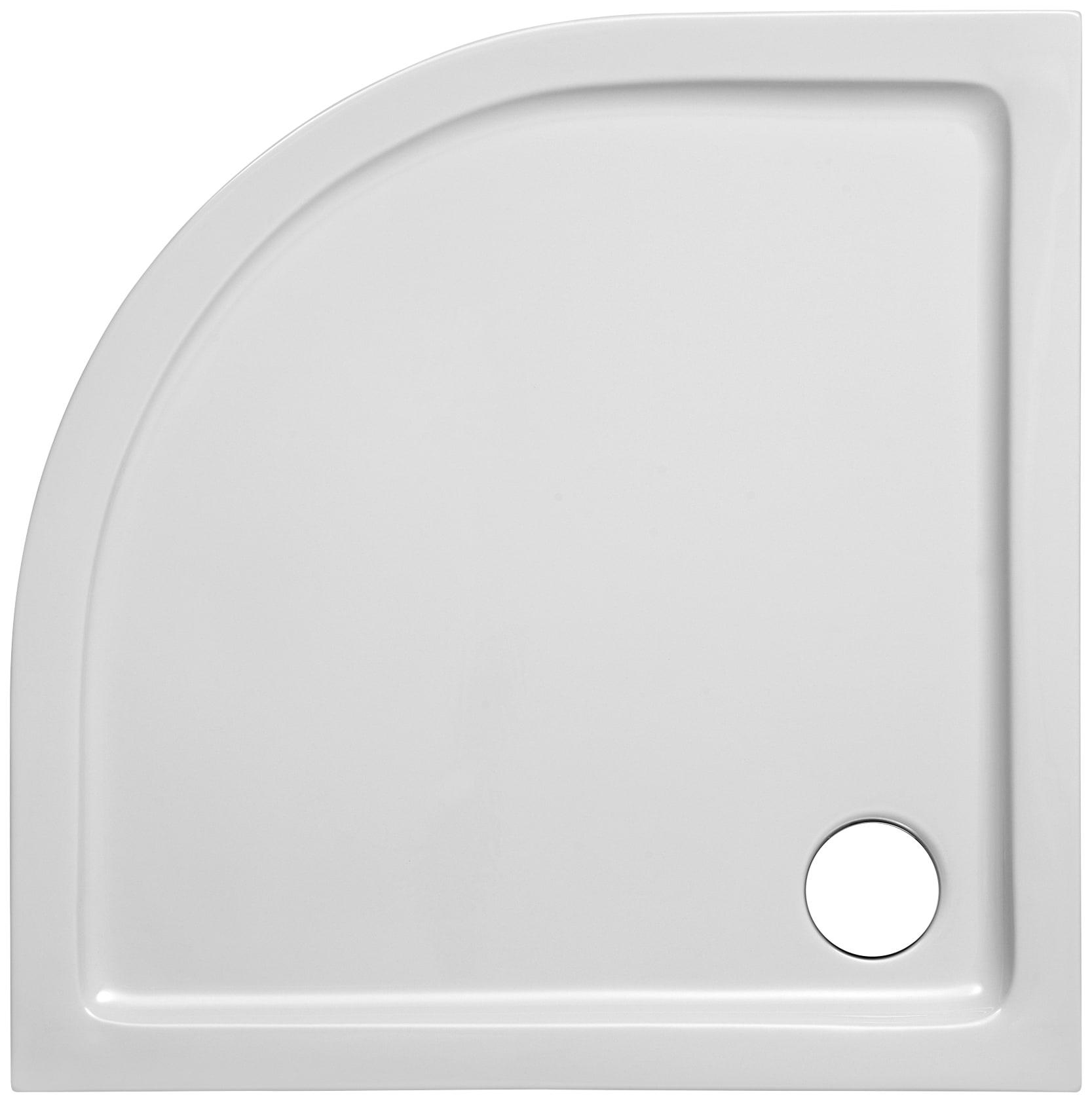 OTTOFOND Duschwanne Set Viertelkreis Duschwanne, 900x900/30 mm weiß Duschwannen Duschen Bad Sanitär