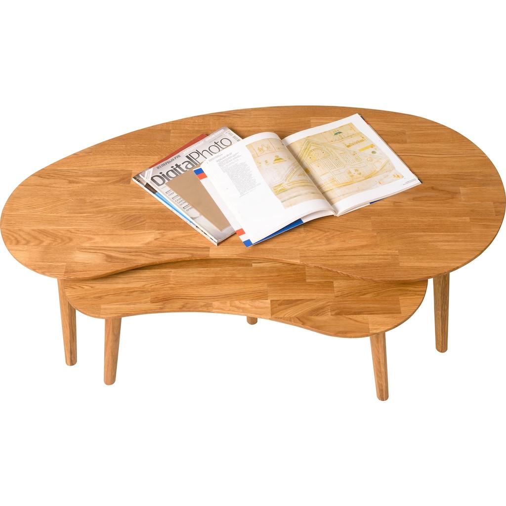 andas Couchtisch »Scandi«, aus schönem massivem Eichenholz, mit einer pflegeleichten Oberfläche
