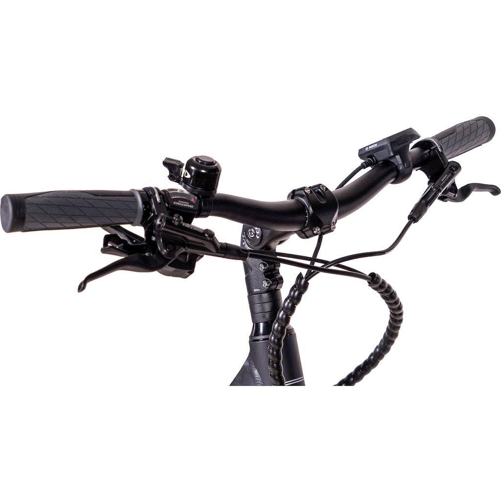 Chrisson E-Bike »E-ACTOURUS Damen«, 10 Gang, Shimano, Deore RD-T6000-SGS, Mittelmotor 250 W