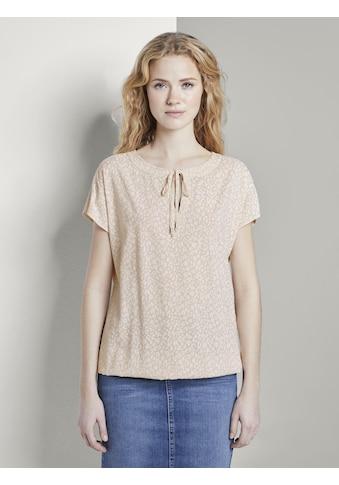 TOM TAILOR Blusentop »Gemustertes Shirt mit Schleife« kaufen