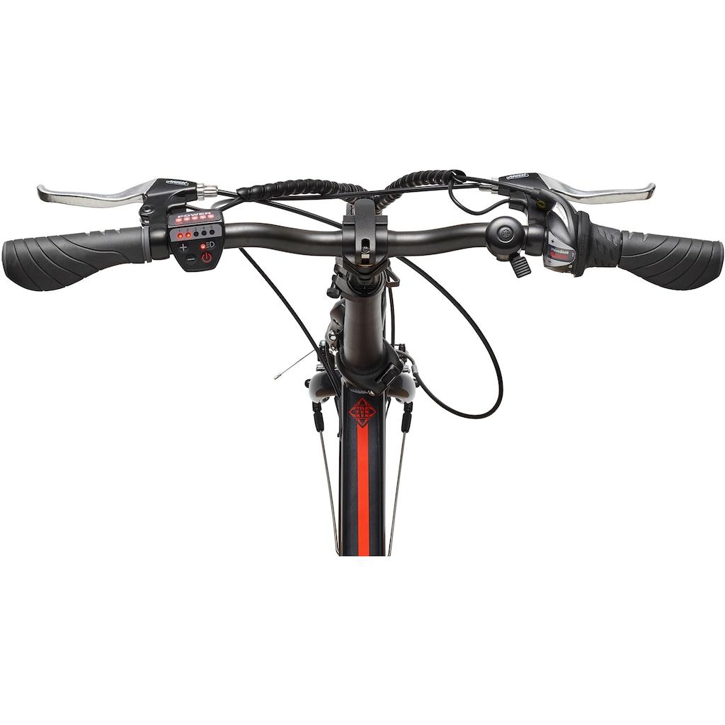 Telefunken E-Bike »Kompakt F820«, 6 Gang, Shimano, Tourney, Heckmotor 250 W