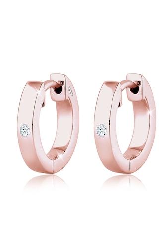 Diamore Paar Creolen »Creole Diamant (0.04 ct) Geschenkidee Silber« kaufen