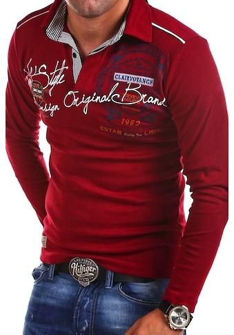 behype Poloshirt »Ambition«, mit Hemdkragen und Prints kaufen