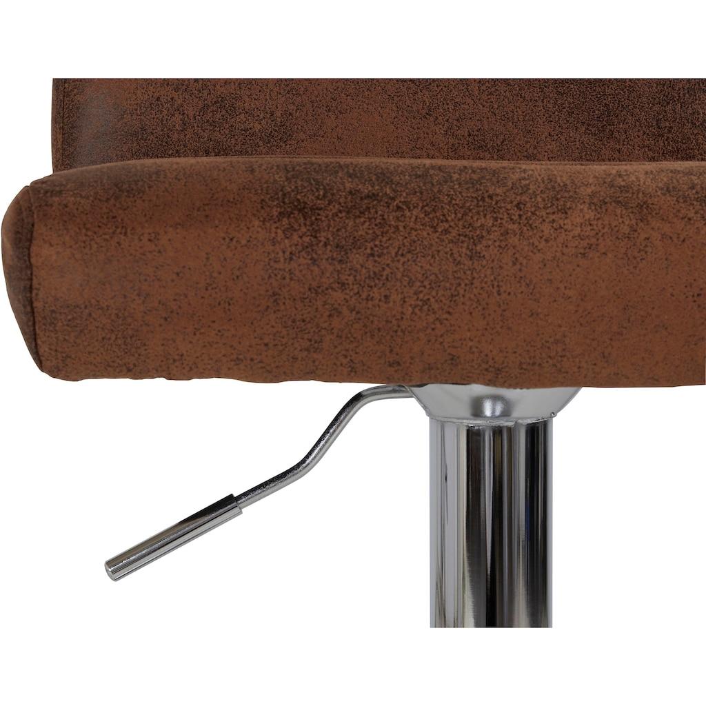 Homexperts Barhocker »Pearl«, Bezug in Microfaser-Vintage