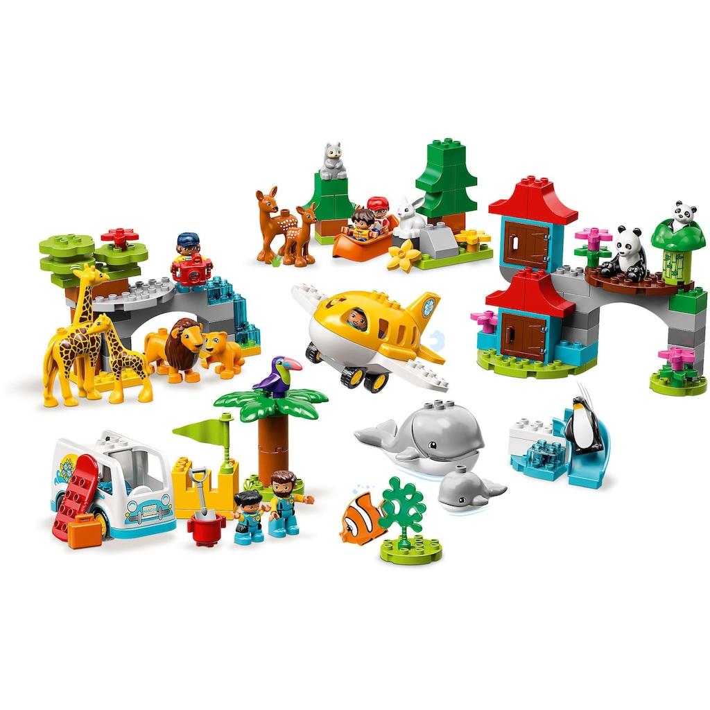 LEGO® Konstruktionsspielsteine »Tiere der Welt (10907), LEGO® DUPLO®«, (121 St.)