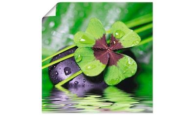 Artland Wandbild »Glücksklee... Entspann mal wieder«, Zen, (1 St.), in vielen Größen & Produktarten - Alubild / Outdoorbild für den Außenbereich, Leinwandbild, Poster, Wandaufkleber / Wandtattoo auch für Badezimmer geeignet kaufen