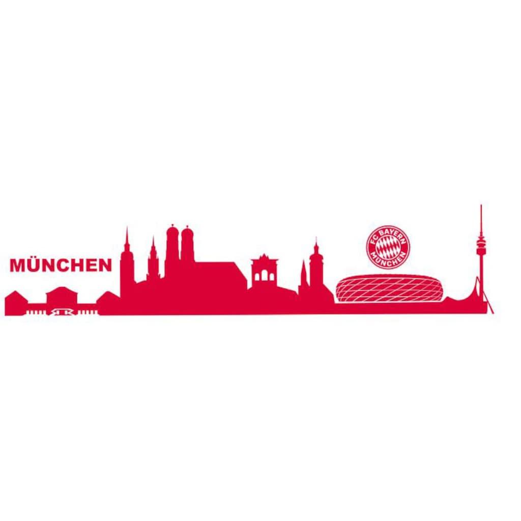 Wall-Art Wandtattoo »Fußball München Skyline mit Logo«