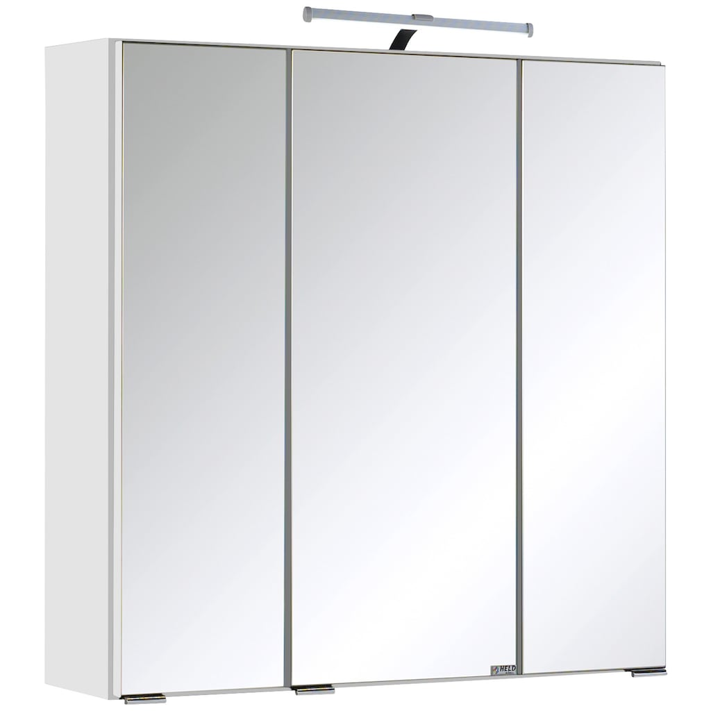 HELD MÖBEL Badmöbel-Set »Cardiff«, (2 St.), Breite 60 cm, griffloses Design