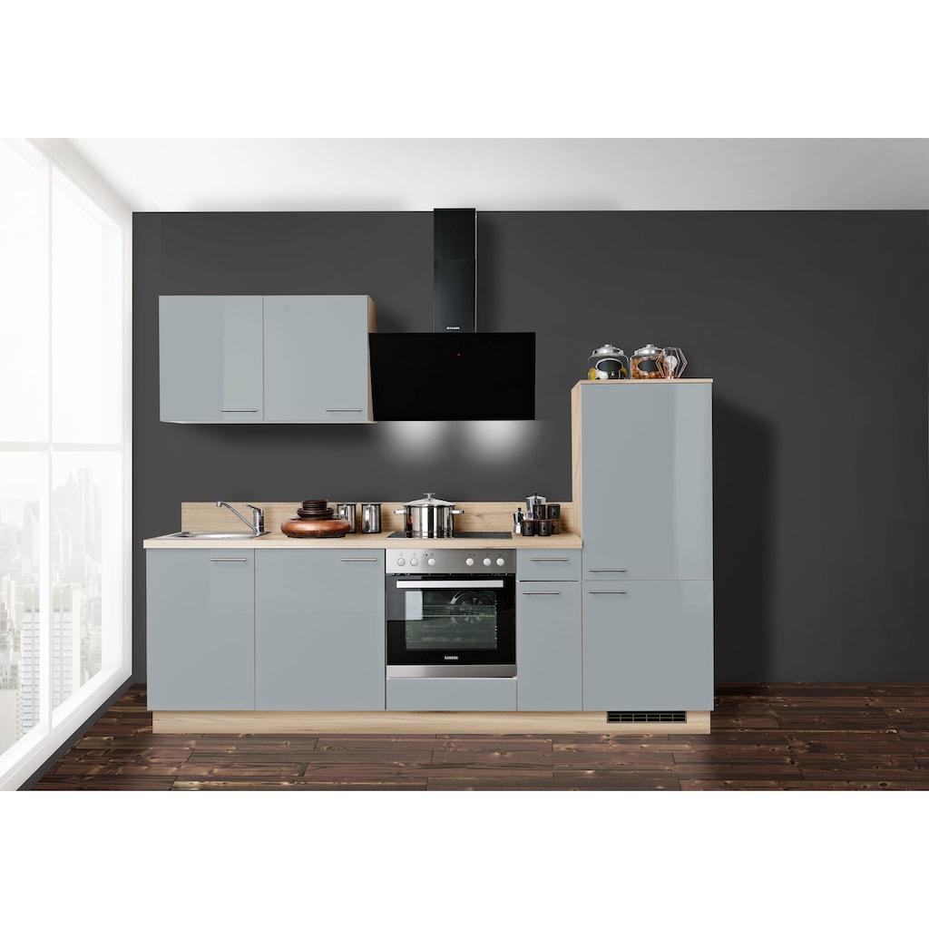 Express Küchen Küchenzeile »Scafa«, vormontiert, mit Vollauszug und Soft-Close-Funktion, Stellbreite 260 cm