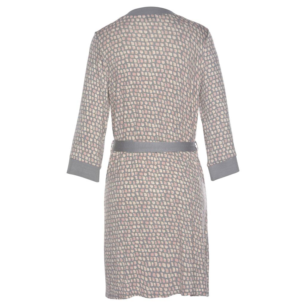 LASCANA Kimono, mit Allover-Muster