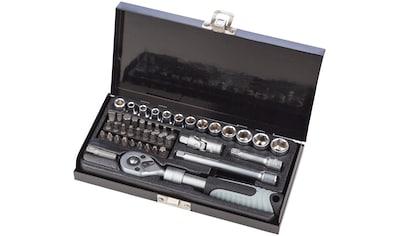 WGB BASIC PLUS Steckschlüsselsatz 45 - tlg. Steckschlüssel - Garnitur, im Stahlblechkasten kaufen