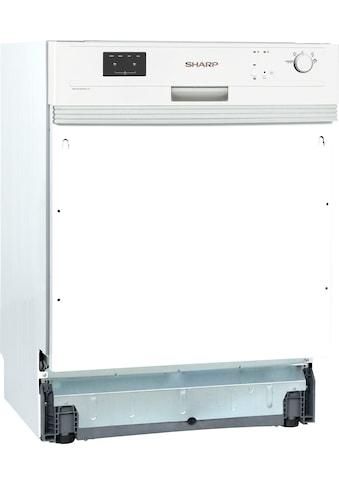 Sharp teilintegrierbarer Geschirrspüler, QW-GX13S47EW-DE, 12 Maßgedecke kaufen
