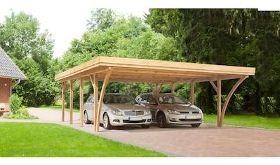 Kiehn-Holz Doppelcarport »KH 105«, Holz, 528 cm, grün, Alu-Dach kaufen