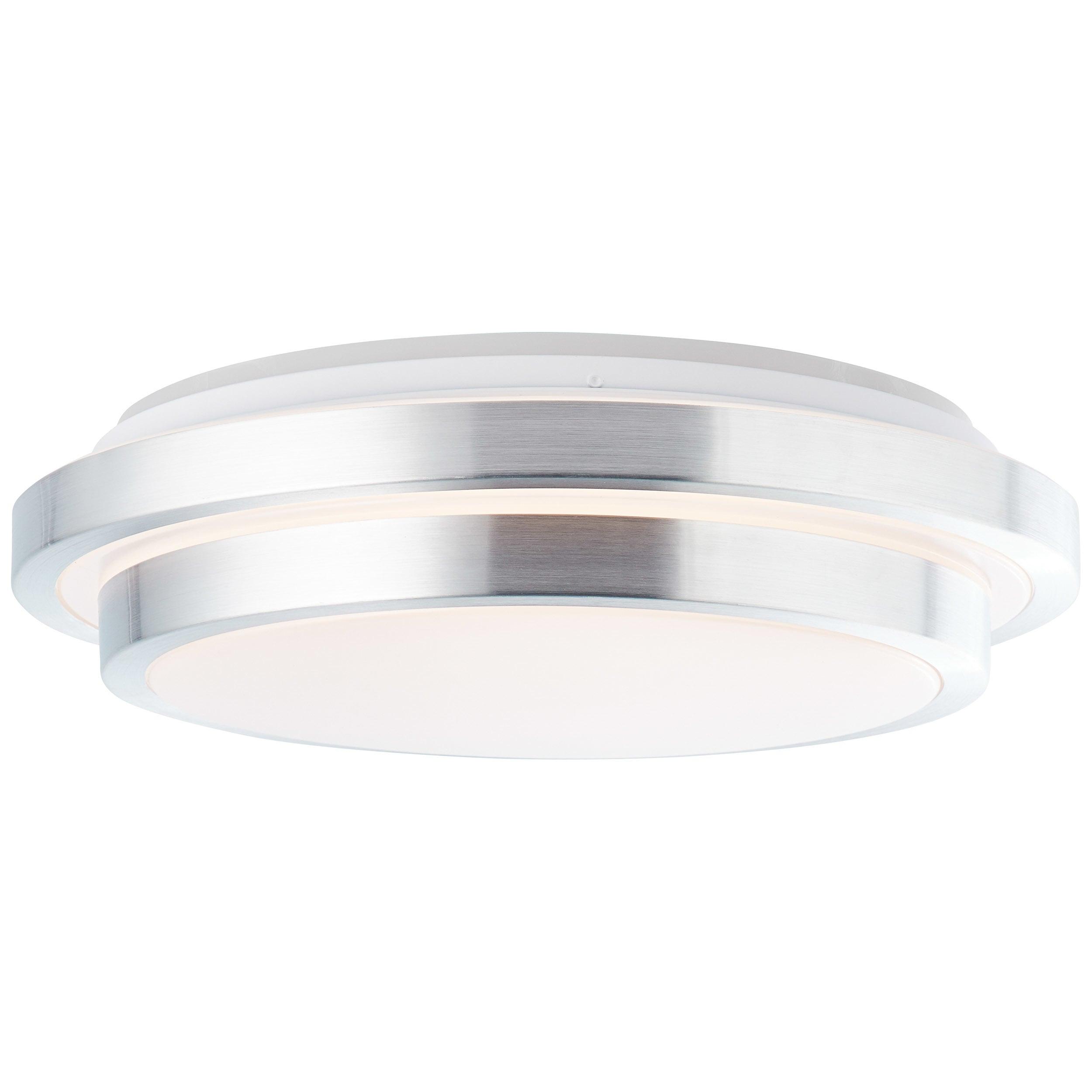 Brilliant Leuchten Vilma LED Deckenleuchte 41cm weiß-silber