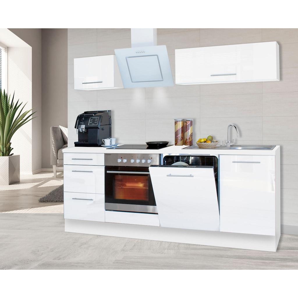 RESPEKTA Küchenzeile »RP220«, mit E-Geräten, Breite 220 cm