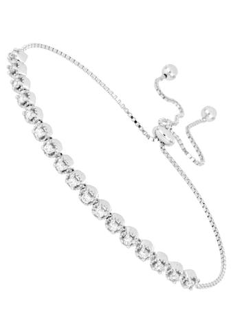 Firetti Tennisarmband »mit Strukturoptik, rhodiniert, hochglanzpoliert« kaufen