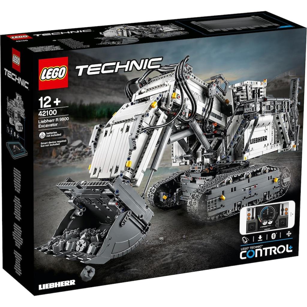 LEGO® Konstruktionsspielsteine »Liebherr Bagger R 9800 (42100), LEGO® Technic«, (4108 St.)