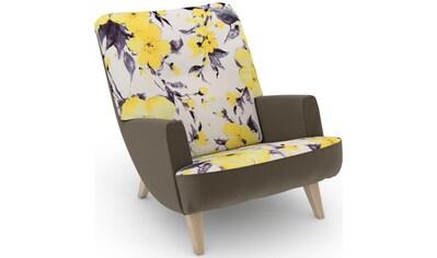 Max Winzer® Loungesessel »build-a-chair Borano«, im Retrolook, zum Selbstgestalten kaufen