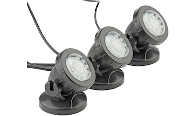 PONTEC Teichbeleuchtung »PondoStar Set 3«, LED 3er - Set, warmweiß kaufen