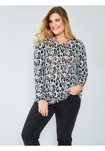 Sara Lindholm by Happy Size Shirt mit Plättchen kaufen