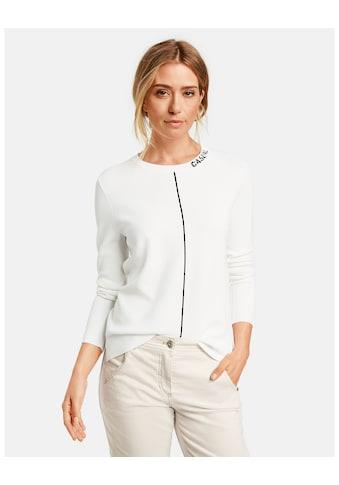GERRY WEBER Pullover Langarm Rundhals »Pullover mit kleinem Schriftzug« kaufen